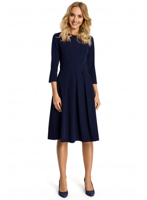 Daili tamsiai mėlyna suknelė