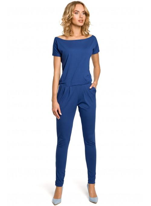 Mėlynas kombinezonas su kišenėmis