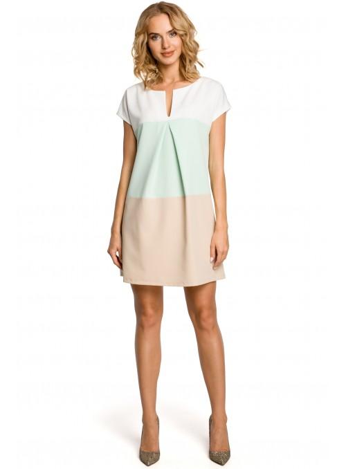 Trijų spalvų suknelė