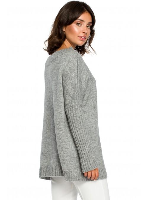 Rudos spalvos megztinis