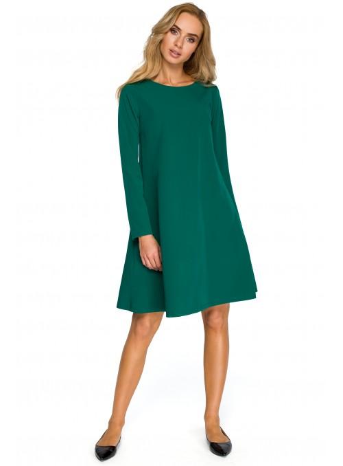 Žalia dailiai krentanti suknelė