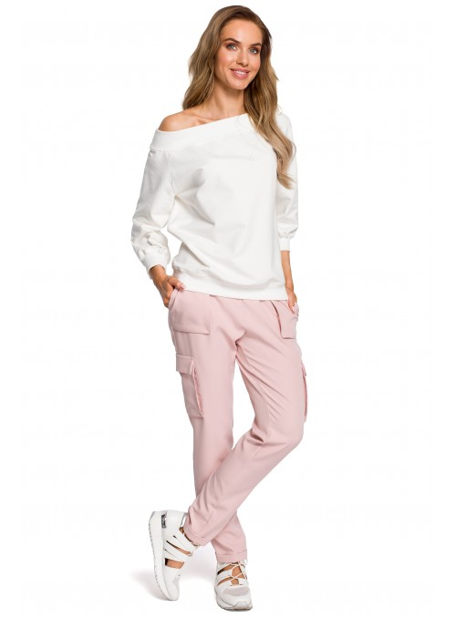 Šviesiai rožinės stilingos kelnės