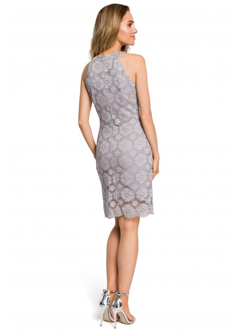 Pilka puošni suknelė