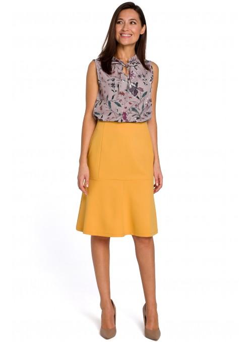 Puošnus geltonas sijonas
