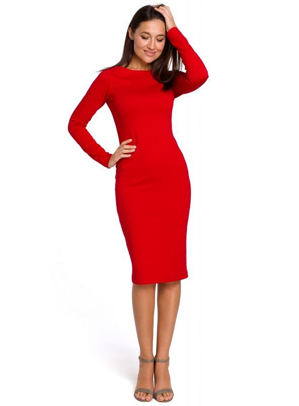 Midi ilgio raudona suknelė