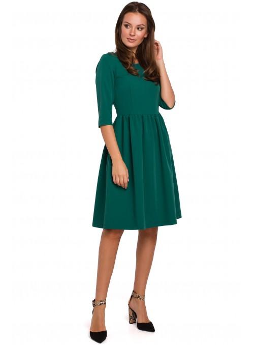 Žalia, daili suknelė