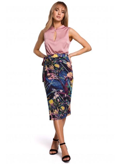 Gėlėtas, mėlynas sijonas