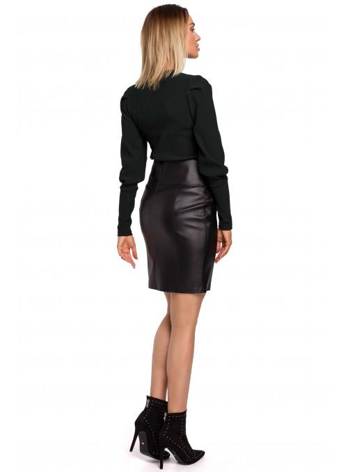 Juodas, eko odos sijonas