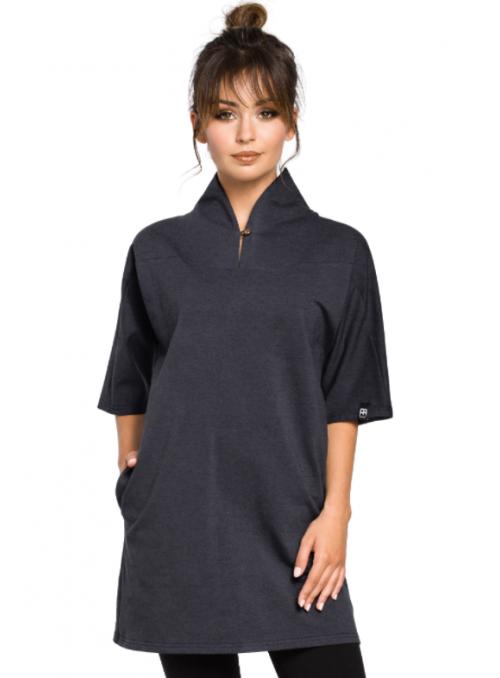 Juoda kimono stiliaus tunika