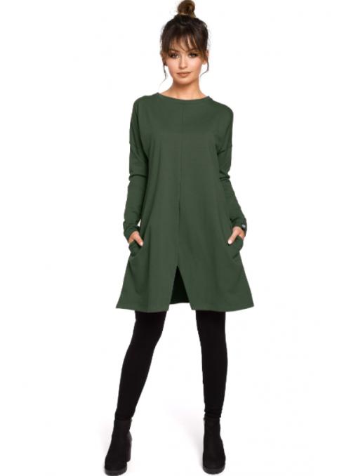 Šviesiai pilka suknelė-tunika