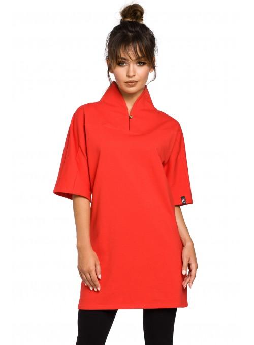 Raudona kimono stiliaus tunika