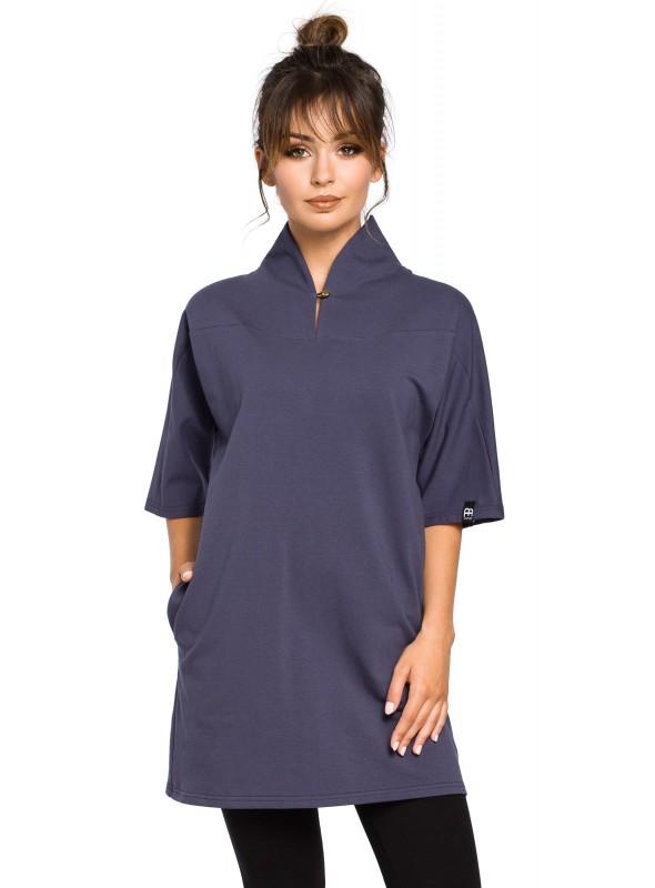 Mėlyna kimono stiliaus tunika