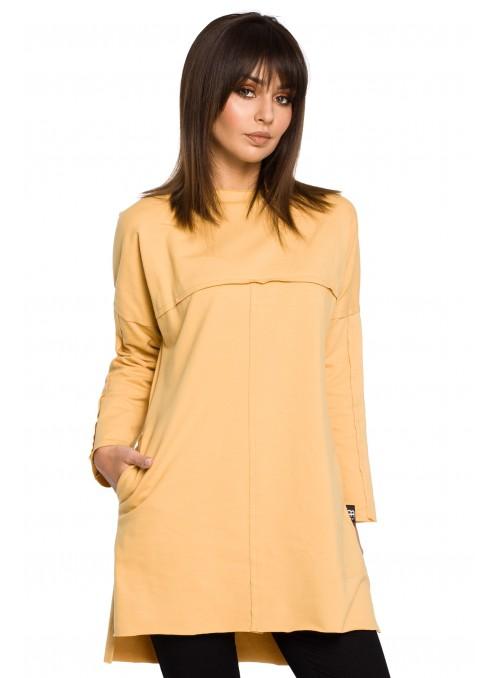 Geltona tunika su kišenėmis
