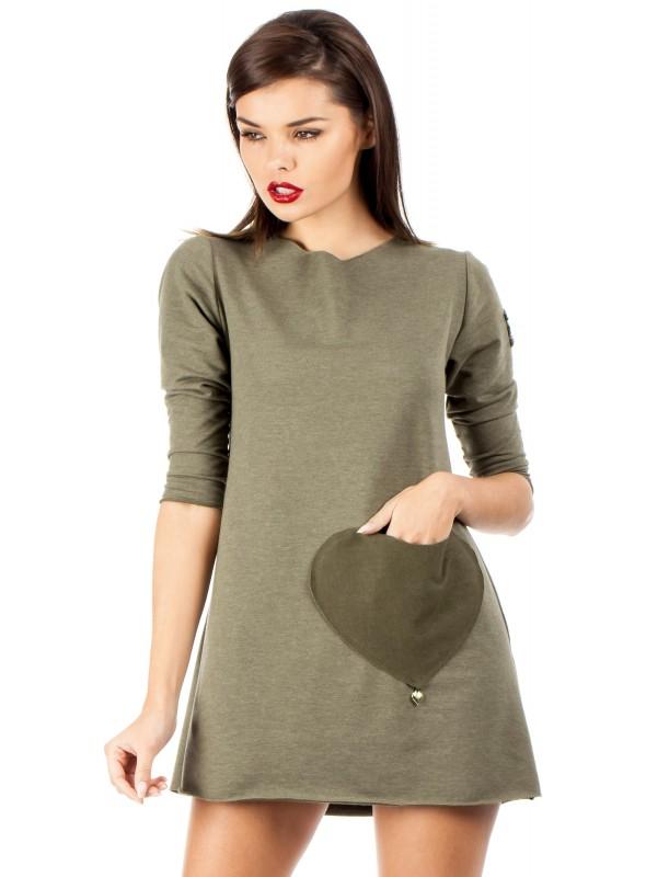 Khaki spalvos suknelė