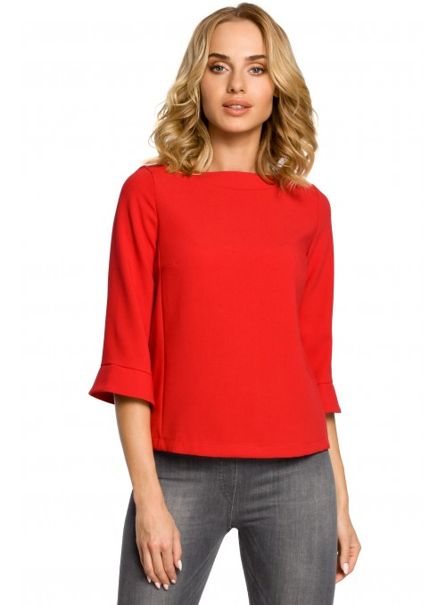 Raudona stilinga palaidinė
