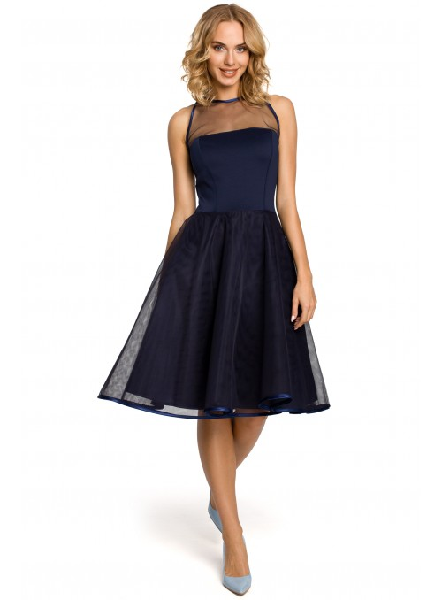Mėlyna vakarinė suknia