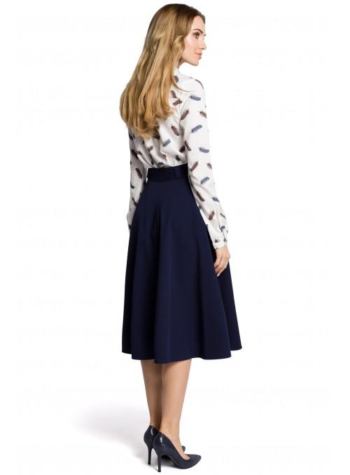 Pilkas sijonas su dirželiu