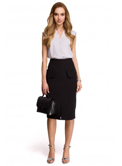 Pieštuko tipo juodas sijonas