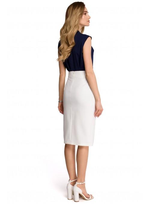 Pieštuko tipo baltas sijonas
