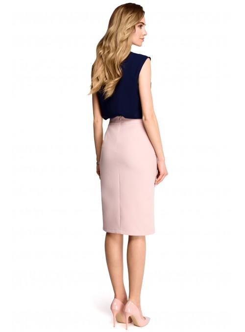 Pieštuko tipo rožinis sijonas