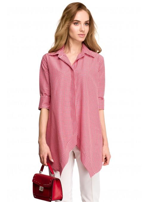 Raudoni languoti marškinėliai